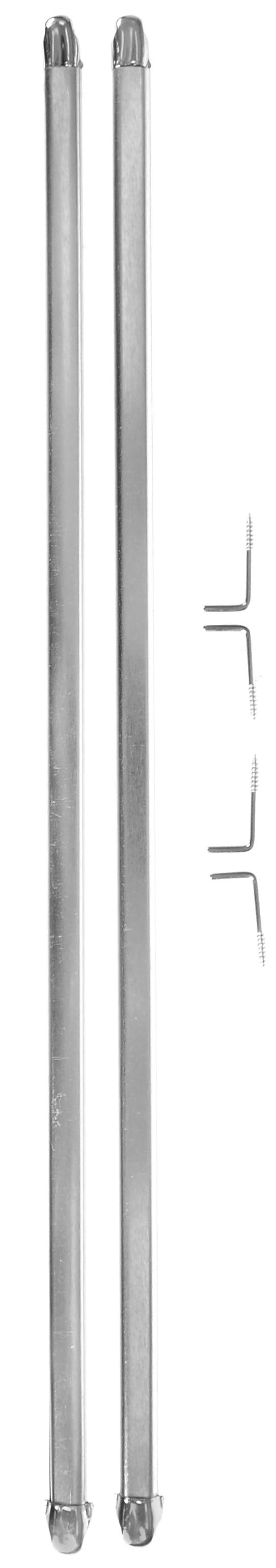 Штанга однорядная Эскар, металлическая, телескопическая, цвет: хром, длина 40-70 см, 2 шт9290000040Витражная штанга Эскар - это не только аксессуар для штор, но и элемент декора. Изделие выполнено из металла. Держатели штанг вкручиваются в раму в предварительно рассверленное отверстие.В комплект входят: 2 штанги, 4 крючка для крепления.Оригинальная и стильная штанга дополнит интерьер любой комнаты. Длина карниза: 40-70 см.