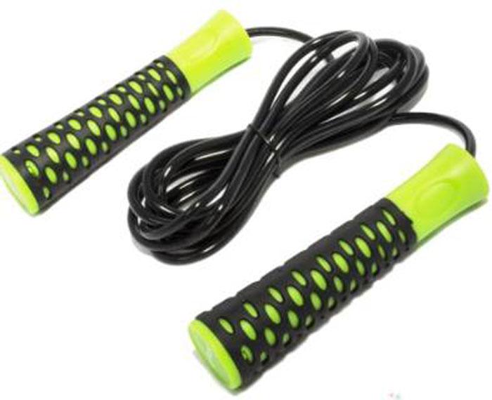 Скакалка Starfit RP-103, цвет: зеленый, черный, длина 3,05 мУТ-00007302Скакалка Star Fit RP-103 предназначена для укрепления мышц рук и ног, а также для общей тренировки. Скакалку приятно держать в руках. Трос выполнен из прочного ПВХ. Модель отличается своей цепкостью с ладонью за счет неоднородности поверхности рукояти. Для более быстрого и плавного вращения троса изделие снабжено подшипниками.