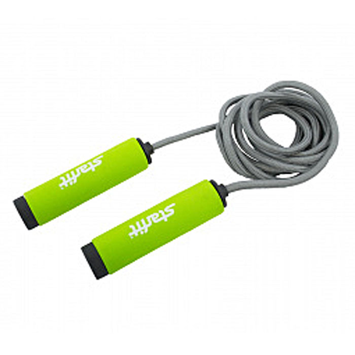 Скакалка Starfit RP-105, цвет: зеленый, серый, длина 3 м эспандеры starfit эспандер starfit es 702 power twister черный 50 кг