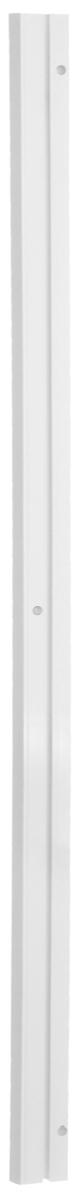 Карниз шинный потолочный Эскар, однорядный, с аксессуарами, цвет: белый, длина 120 см