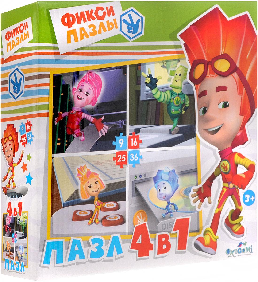 Оригами Пазл для малышей Фиксики 4 в 1 12551 learning journey пазл для малышей озорные фигуры 4 в 1