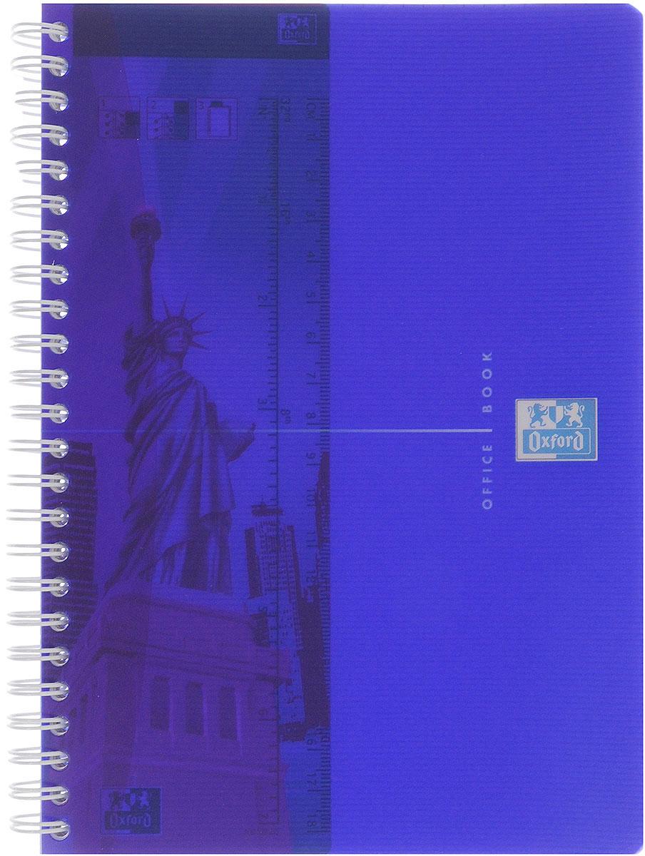 Oxford Тетрадь My Colours 90 листов в клетку формат А5 цвет синий817834_синийКрасивая и практичная тетрадь Oxford My Colours отлично подойдет для офиса и учебы. Тетрадь формата А5 состоит из 90 белых листов с четкой яркой линовкой в клетку. Обложка тетради выполнена из плотного полипропилена и оформлена символом Оксфордского университета. Двойная спираль надежно удерживает листы. Также тетрадь имеет скругленные углы и гибкую съемную закладку-линейку из матового полупрозрачного пластика с изображением лондонского Биг Бена.