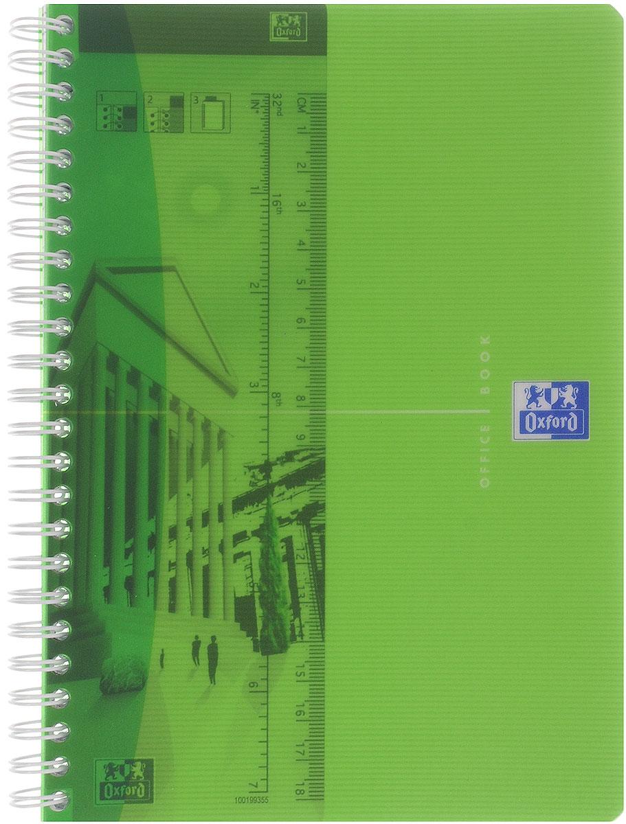 Oxford Тетрадь My Colours 90 листов в клетку формат А5 цвет салатовый817834_салатовыйКрасивая и практичная тетрадь Oxford My Colours отлично подойдет для офиса и учебы. Тетрадь формата А5 состоит из 90 белых листов с четкой яркой линовкой в клетку. Обложка тетради выполнена из плотного полипропилена и оформлена символом Оксфордского университета. Двойная спираль надежно удерживает листы. Также тетрадь имеет скругленные углы и гибкую съемную закладку-линейку из матового полупрозрачного пластика с изображением лондонского Биг Бена.