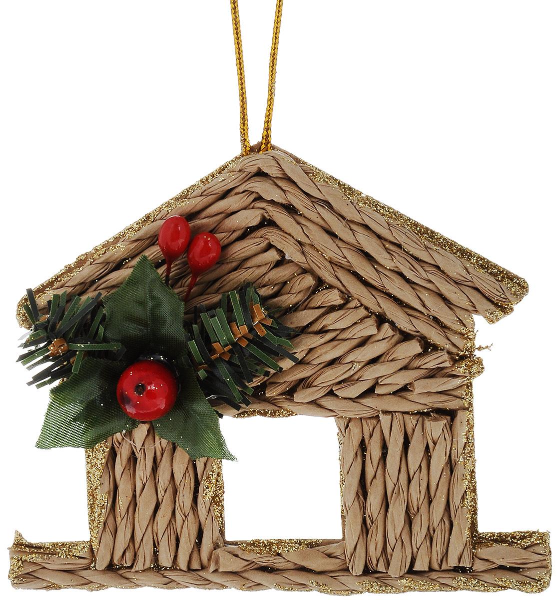 Украшение новогоднее подвесное House & Holder Домик, высота 9,5 смN3-38/45A_бежевый, зеленый, красныйНовогоднее подвесное украшение House & Holder Домик, выполненное из бумаги и пластика, декорировано блестками. С помощью специальной петельки украшение можно повесить в любом понравившемся вам месте. Но, конечно, удачнее всего оно будет смотреться на праздничной елке.Елочная игрушка - символ Нового года. Она несет в себе волшебство и красоту праздника. Создайте в своем доме атмосферу веселья и радости, украшая новогоднюю елку нарядными игрушками, которые будут из года в год накапливать теплоту воспоминаний.Размер украшения (с учетом декоративных элементов): 11,5 х 9,5 х 2,5 см.