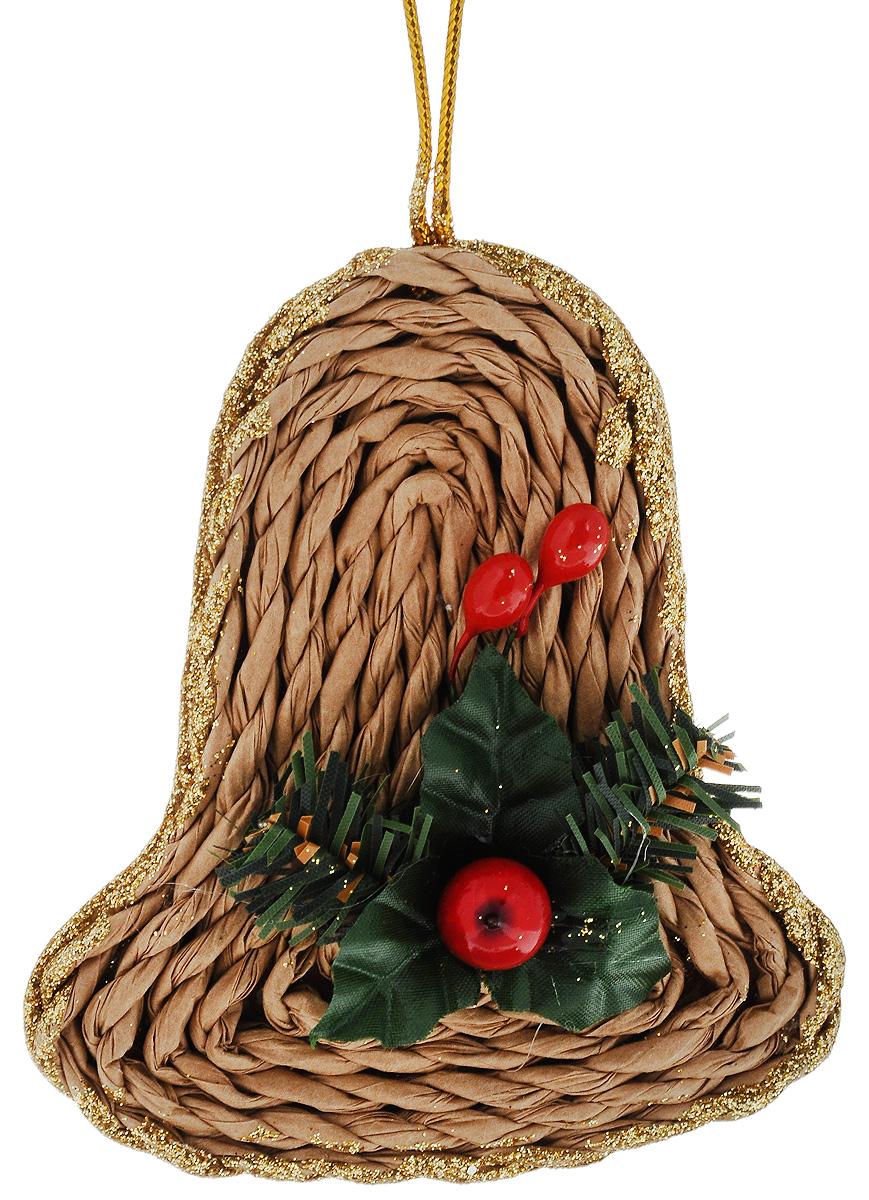 Украшение новогоднее подвесное House & Holder Колокольчик, высота 10,5 смN3-38/45A_бежевый, зеленый, красныйНовогоднее подвесное украшение House & Holder Колокольчик, выполненное из бумаги и пластика, декорировано блестками. С помощью специальной петельки украшение можно повесить в любом понравившемся вам месте. Но, конечно, удачнее всего оно будет смотреться на праздничной елке.Елочная игрушка - символ Нового года. Она несет в себе волшебство и красоту праздника. Создайте в своем доме атмосферу веселья и радости, украшая новогоднюю елку нарядными игрушками, которые будут из года в год накапливать теплоту воспоминаний.Размер украшения (с учетом декоративных элементов): 10,5 х 9 х 2,5 см.