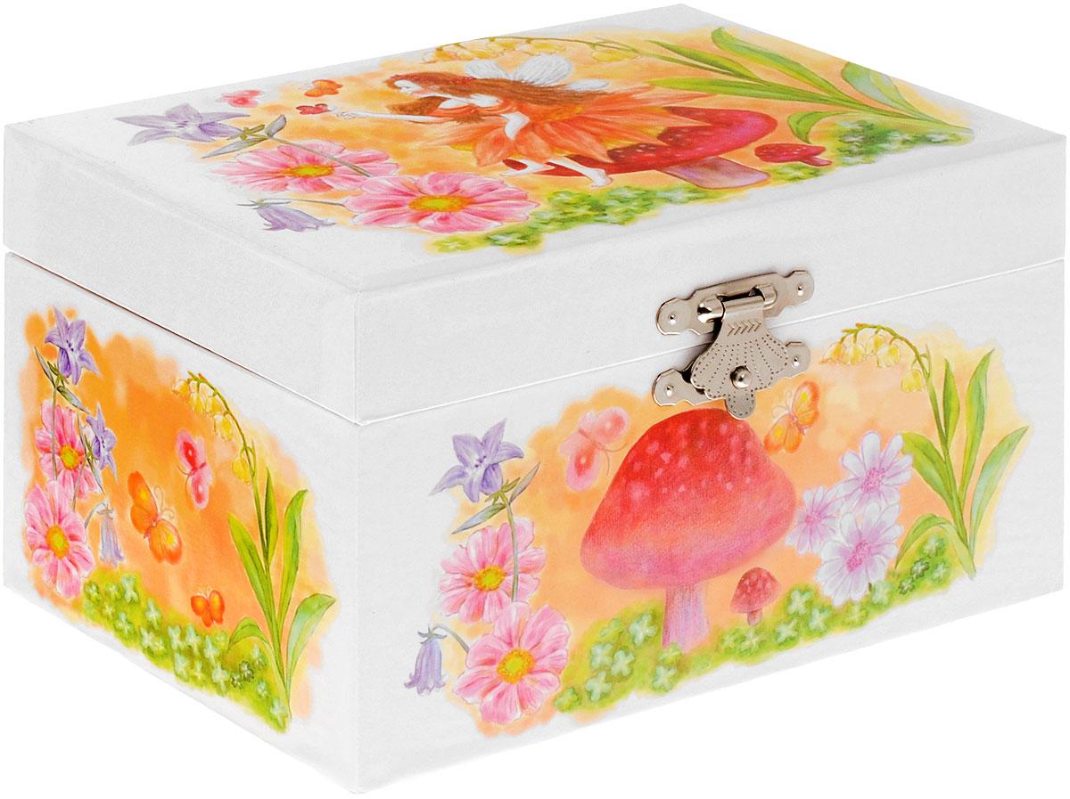 Jakos Музыкальная шкатулка Фея на грибе музыкальная шкатулка jakos балерина цвет бежевый розовый