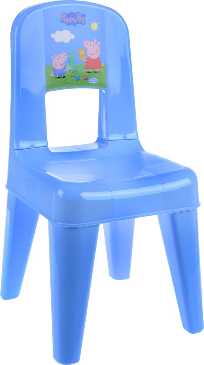"""Табурет Little Angel """"Свинка Пеппа. Я расту"""" разработан специально для детей. Изготовлен из безопасного нетоксичного полипропилена, оснащен спинкой. Закругленные углы сиденья и ножек обеспечивают безопасность малыша. Поверхность сиденья нескользящая, благодаря чему игры и обучение будут более комфортными. На ножках имеются противоскользящие резиновые накладки. Рекомендован для детей от 2 до 6 лет."""