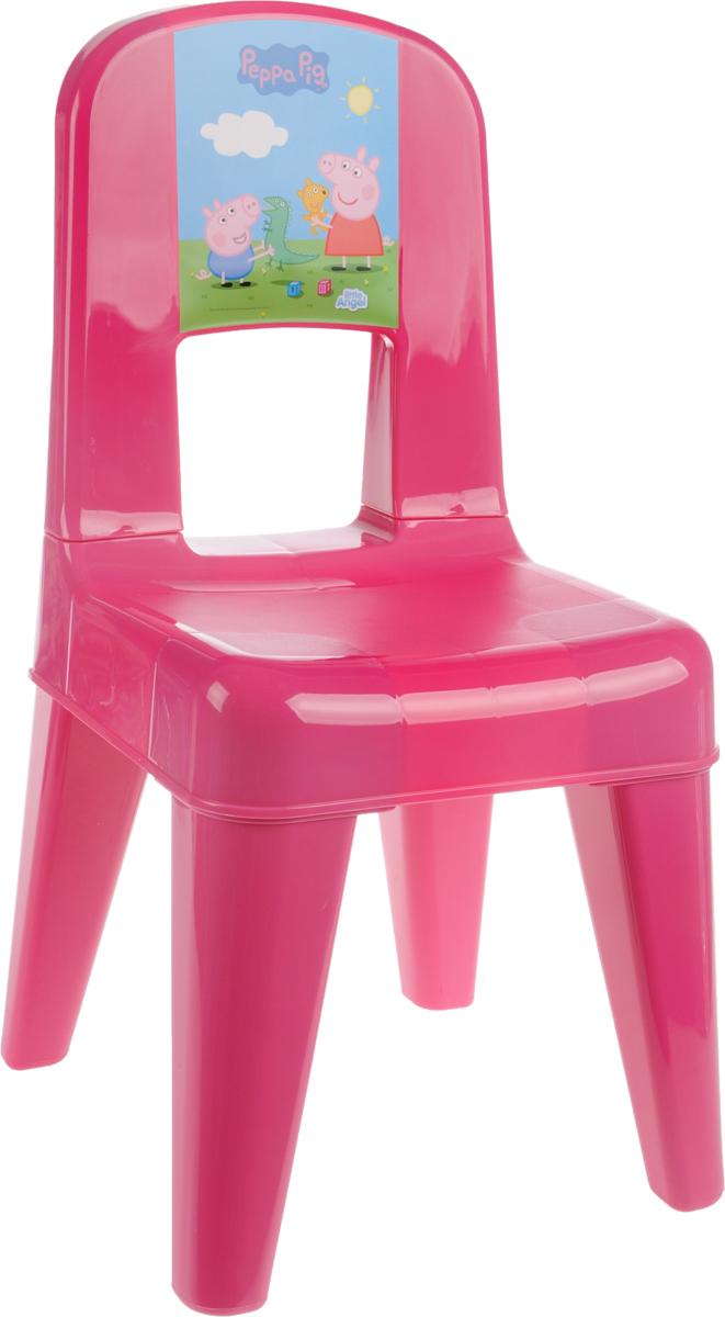 Табурет детский Little Angel Свинка Пеппа. Я расту, со спинкой, цвет: розовый, голубой, зеленый, 35 х 30 х 58,2 см little english я и моя семья игры и упражнения для малышей