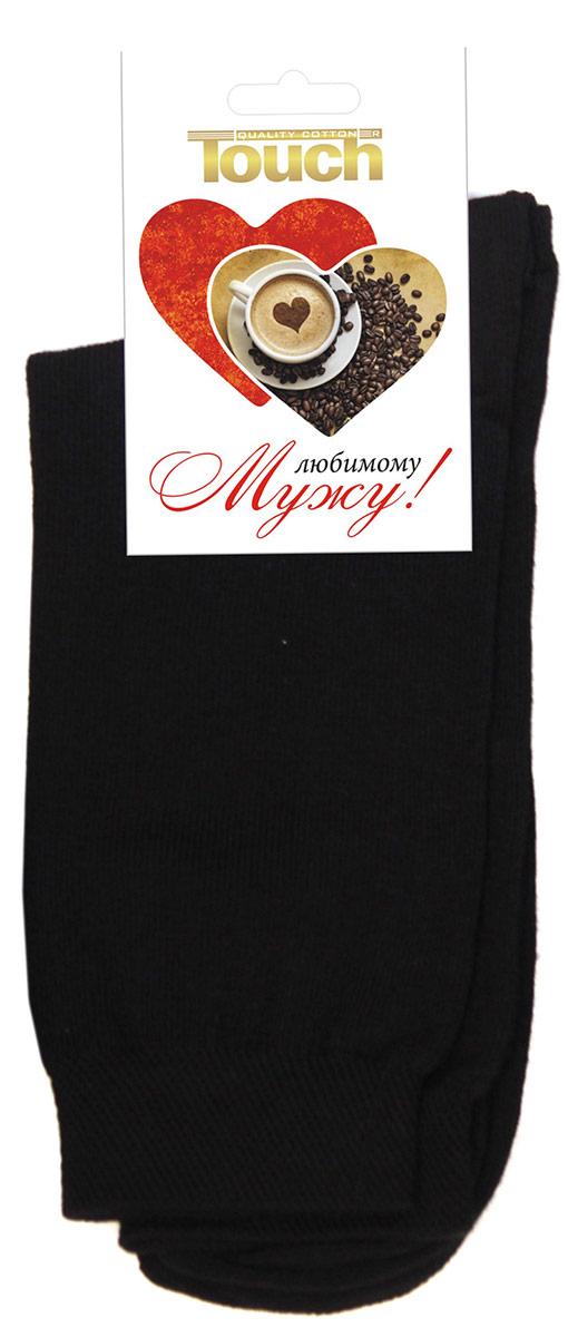 Фото - Носки-открытка мужские Touch Gold Любимому мужу, цвет: черный. 016. Размер 27/29 иордания мужские спортивные носки носки лодки коробка подарка носки xwh1561901 mwh03