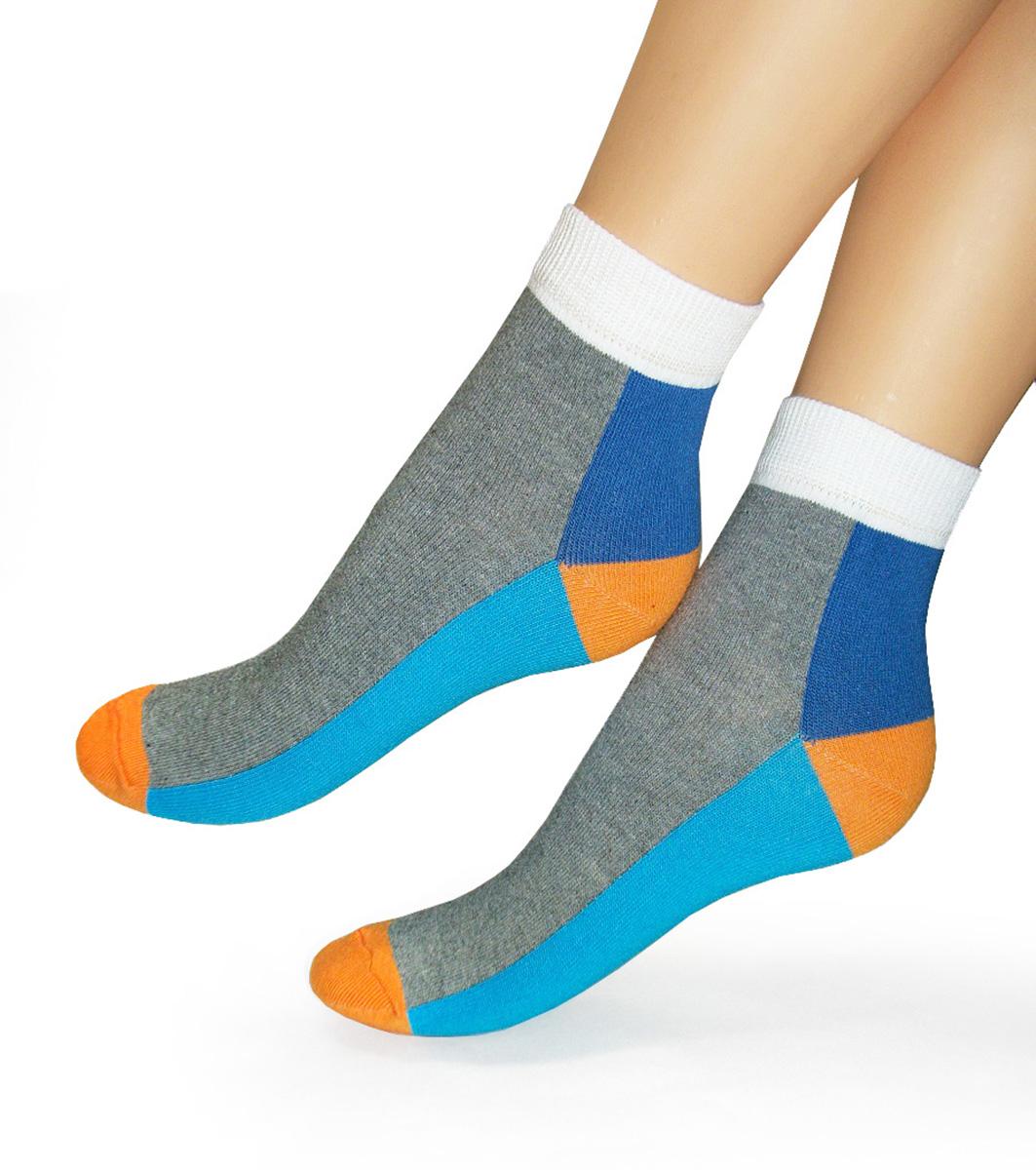 Носки женские Touch Gold, цвет: серый. 251. Размер 23/25251Удобные женские носочки Touch Gold для занятий спортом. Модель, закрывающая щиколотку. Носочки с ярким геометрическим рисунком изготовлены из лучших сортов хлопка с добавлением эластановых волокон, которые обеспечивают повышенную износостойкость, превосходную посадку и позволяют вашим ножкам дышать.
