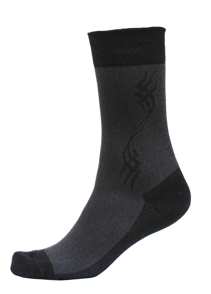 Носки мужские Burlesco, цвет: черный. C716. Размер 25 (39-40)C716Мужские носки Burlesco изготовлены из высококачественного хлопка с добавлением полиамидных и эластановых волокон. Носки комфортно прилегают к ноге без образования складок. Идеальны для повседневной носки. Изделие оснащено широкой эластичной мягкой резинкой. Мысок и пятка усилены. Декорированы узором.