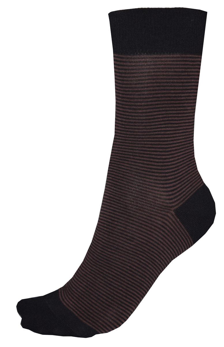 Носки мужские Burlesco, цвет: коричневый, черный. C812. Размер 25 (39-40)C812Мужские носки Burlesco изготовлены из высококачественного хлопка с добавлением полиэстера, полиамида и эластана. Носки комфортно прилегают к ноге без образования складок. Идеальны для повседневной носки. Изделие оснащено широкой эластичной мягкой резинкой. Мысок и пятка усилены. Оформлены узором в виде полос.