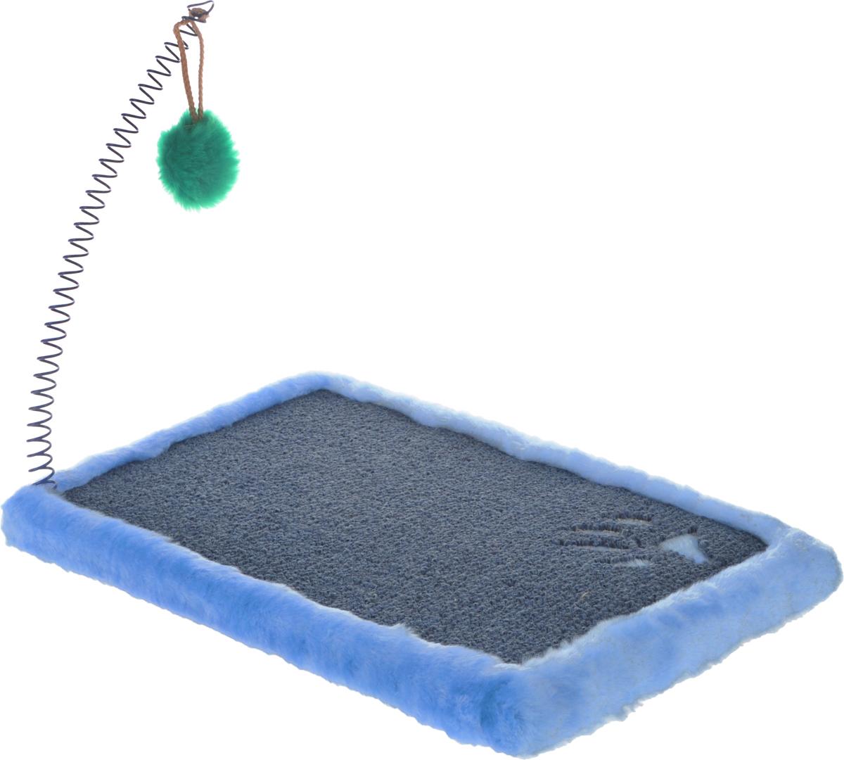Когтеточка ЗооМарк  Коврик , напольная, цвет: синий, зеленый, 40 х 25 см - Когтеточки и игровые комплексы