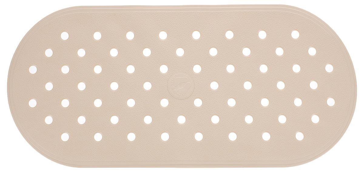 Коврик для ванной Ridder Action, противоскользящий, на присосках, цвет: бежевый, 36 х 80 см167029Коврик для ванной Ridder Action, изготовленный из каучука с защитой от плесени и грибка, создает комфортное антискользящее покрытие в ванне. Крепится к поверхности при помощи присосок. Изделие удобно в использовании и легко моется теплой водой.