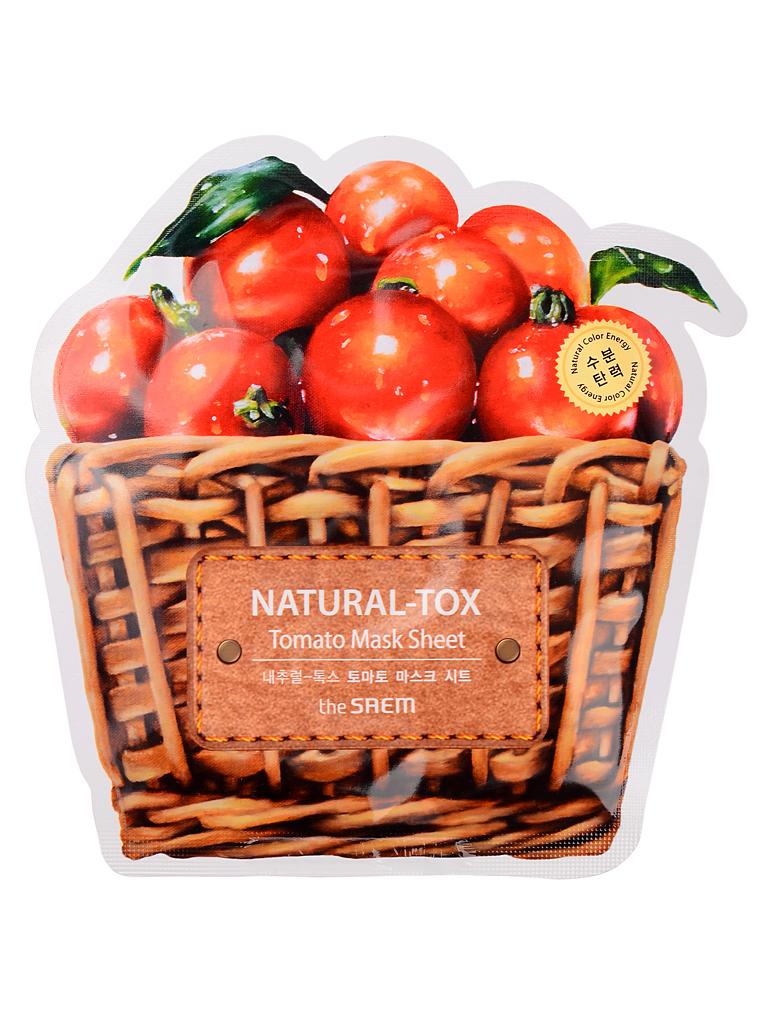 The Saem Маска тканевая томатная Natural-tox Tomato Mask Sheet, 20 грСМ2123Тканевая маска содержит экстракт томата (10000 ppm). Питательные вещества, содержащиеся в помидорах, хорошо укрепляют и тонизируют кожу, делая её упругой и даря ей здоровый цвет. Витамин А способен разрушать кислородные радикалы, разрушающие эластичность кожи. Аскорбиновая кислота в его составе отлично стягивает поры, делая кожу более ровной. Кислота нейтрализует щелочь, преобладающую в защитной пленке жирной кожи, устраняя тем самым излишний блеск.