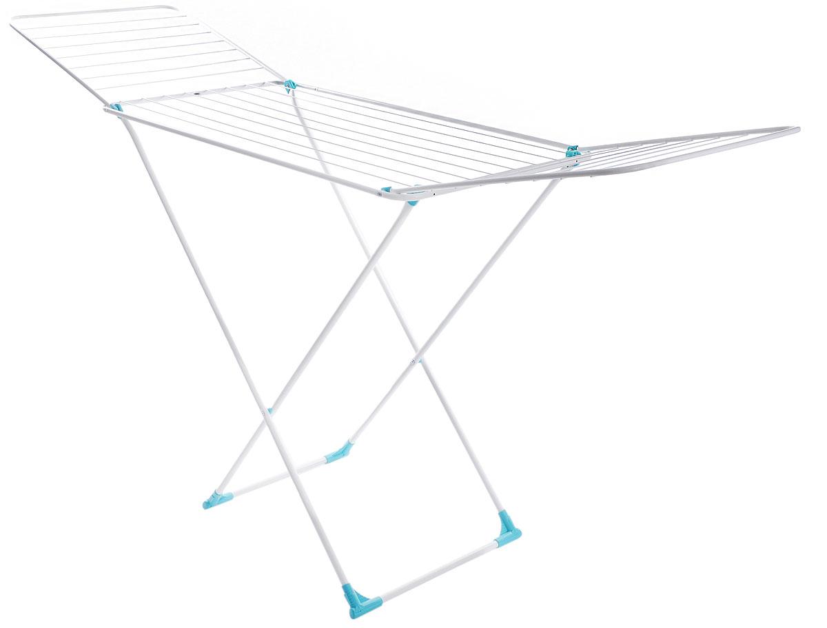 Сушилка для белья Nika, напольная, цвет: белый, 197 х 95 х 54 смСБ2бНапольная сушилка для белья Nika проста и удобна в использовании, компактно складывается, экономя место в вашей квартире. Сушилку можно использовать на балконе или дома. Сушилка оснащена складными створками для сушки одежды во всю длину, а также имеет специальные пластиковые крепления в основе стоек, которые не царапают пол. Размер сушилки в разложенном виде: 197 х 95 х 54 см.Размер сушилки в сложенном виде: 130 х 54 х 3 см.Длина сушильного полотна: 20 м.