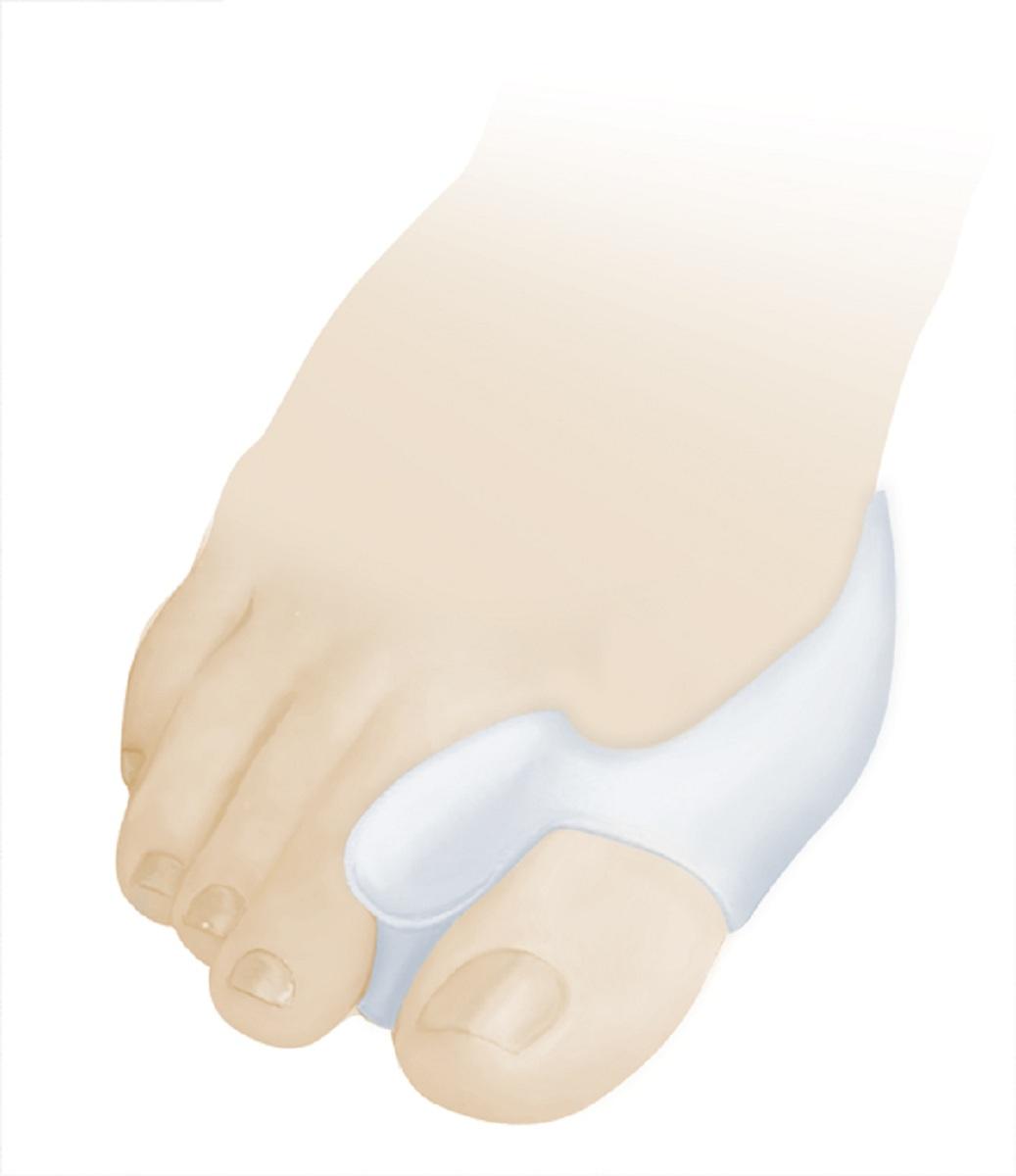 Luomma Бурсопротектор силиконовый с межпальцевой перегородкой Lum902Lum902Размер универсальный. состав: 100% медицинский силикон. Защищает от давления и образования потертостей суставной сумки первого плюснефалангового сустава. В упаковке 2 шт.