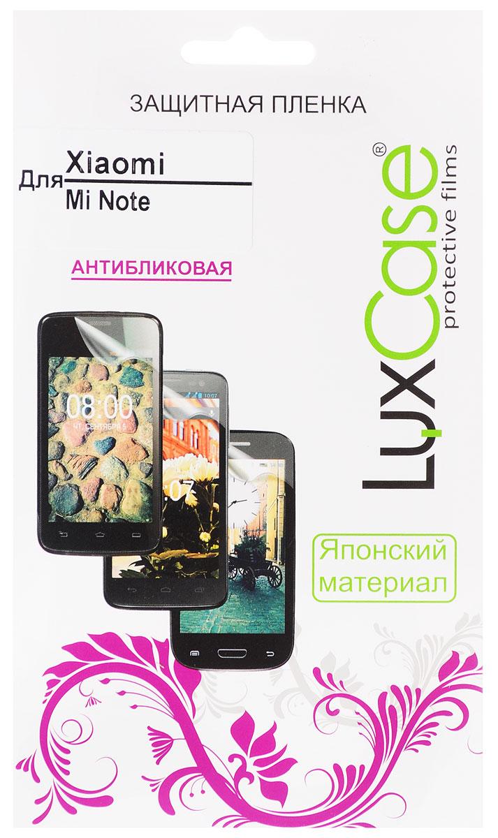 LuxCase защитная пленка для Xiaomi Mi Note, антибликовая54845Защитная пленка LuxCase для Xiaomi Mi Note сохраняет экран смартфона гладким и предотвращает появление на нем царапин и потертостей. Структура пленки позволяет ей плотно удерживаться без помощи клеевых составов и выравнивать поверхность при небольших механических воздействиях. Пленка практически незаметна на экране смартфона и сохраняет все характеристики цветопередачи и чувствительности сенсора.