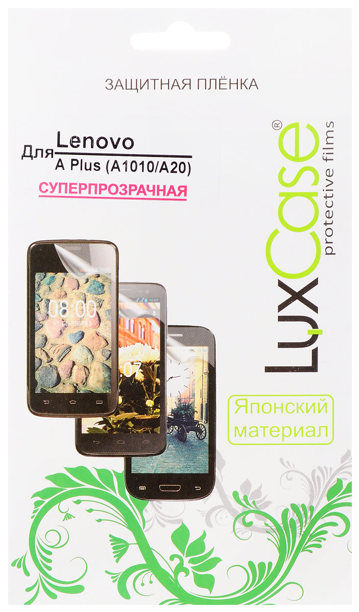 LuxCase защитная пленка для Lenovo A Plus (A1010A20), суперпрозрачная51140Защитная пленка LuxCase для Lenovo A Plus (A1010A20) сохраняет экран устройства гладким и предотвращает появление на нем царапин и потертостей. Структура пленки позволяет ей плотно удерживаться без помощи клеевых составов и выравнивать поверхность при небольших механических воздействиях. Пленка практически незаметна на экране гаджета и сохраняет все характеристики цветопередачи и чувствительности сенсора.