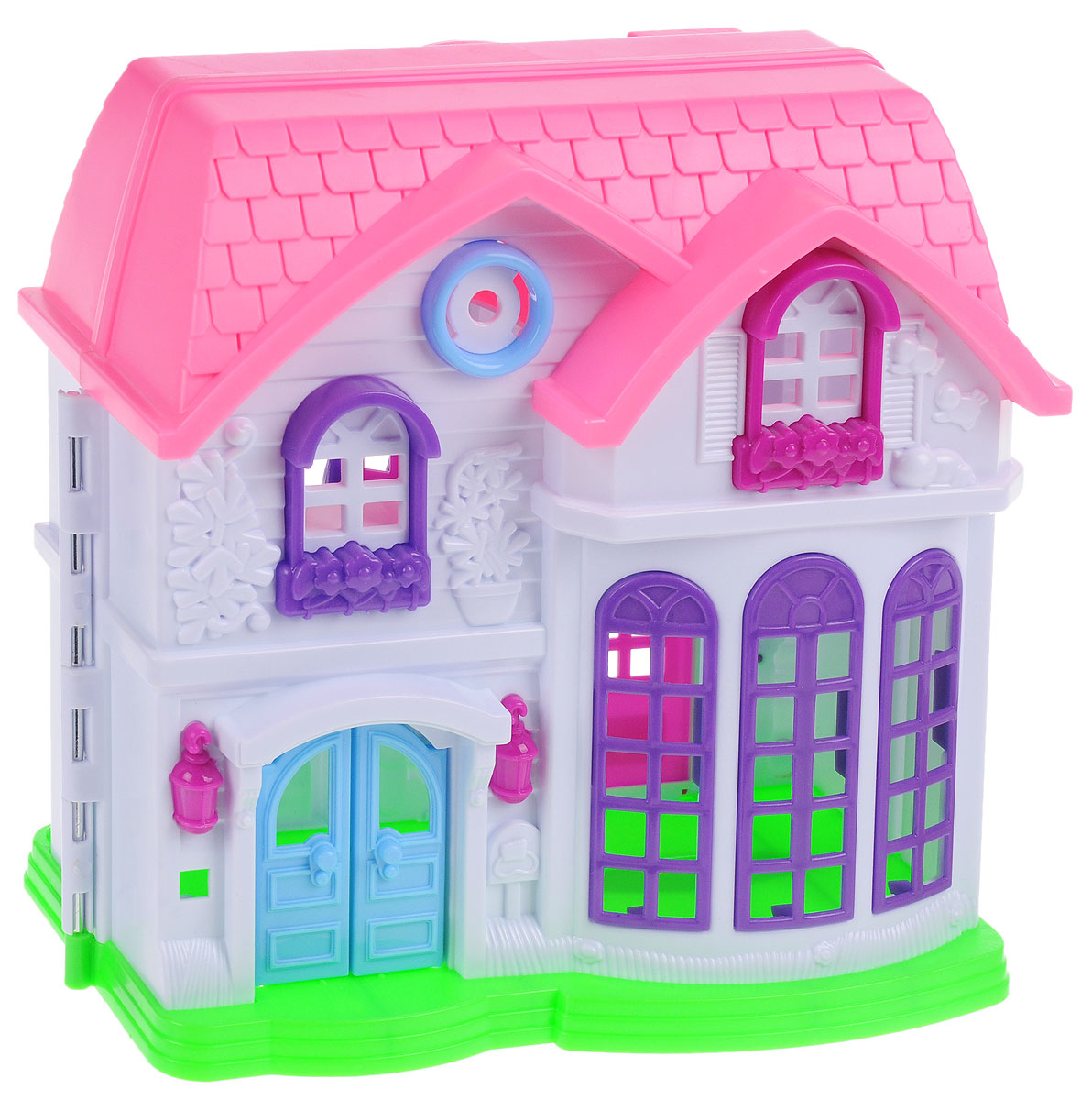 ABtoys Дом для кукол цвет белый розовый голубой