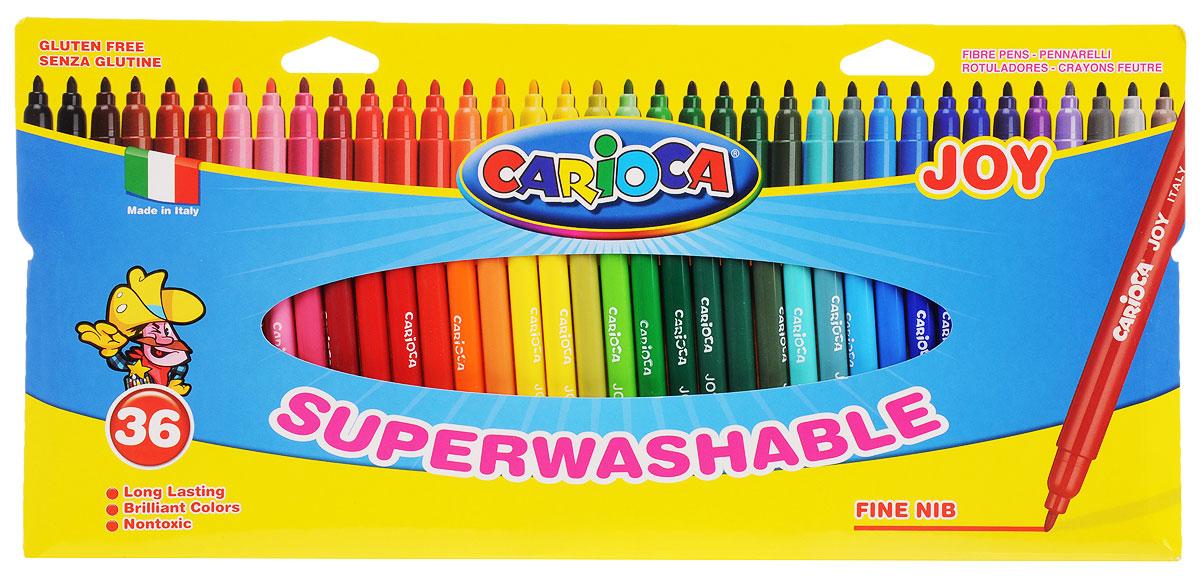 Carioca Набор фломастеров Joy 36 цветов набор фломастеров universal carioca mini jumbo 6 шт разноцветный 40106 6