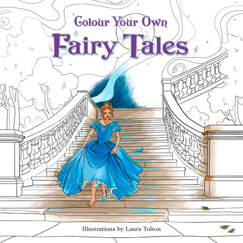 Colour Your Own Fairy Tales snow tales