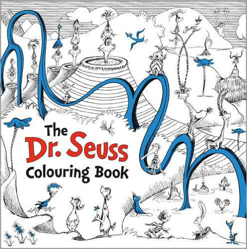 The Dr. Seuss Colouring Book a cat a hat and a piece of string