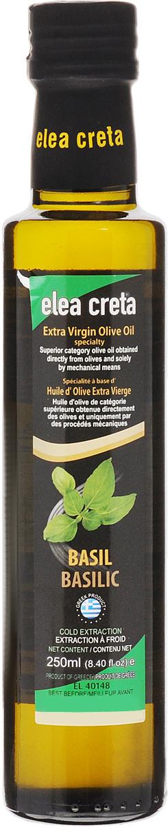 Elea Creta масло оливковое Extra Virgin с базиликом, 250 мл81.0023,1Оливковое нерафинированное масло Elea Creta Extra Virgin холодного отжима с базиликом.Отлично сочетается с блюдами из овощей и бобовых, пастой, рыбой, приготовленной на гриле, жареным красным мясом.Не содержит холестерин.Кислотность 0-0,5%.
