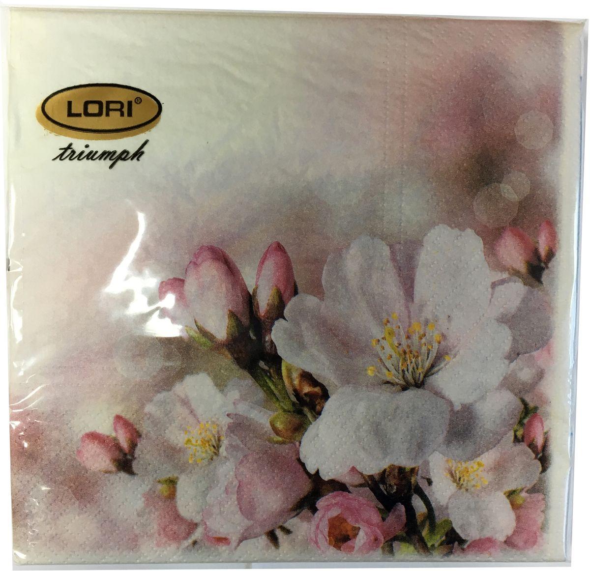 Салфетки бумажные Lori Triumph, трехслойные, цвет: белый, розовый, 33 х 33 см, 30 шт. 5661256612Декоративные трехслойные салфетки Lori Triumph выполнены из 100% целлюлозы и оформлены ярким рисунком. Изделия станут отличным дополнением любого праздничного стола. Они отличаются необычной мягкостью, прочностью и оригинальностью.Размер салфеток в развернутом виде: 33 х 33 см.