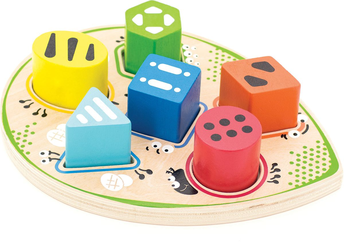 Игрушки из дерева Сортер Жучок конструкторы игрушки из дерева трамвай