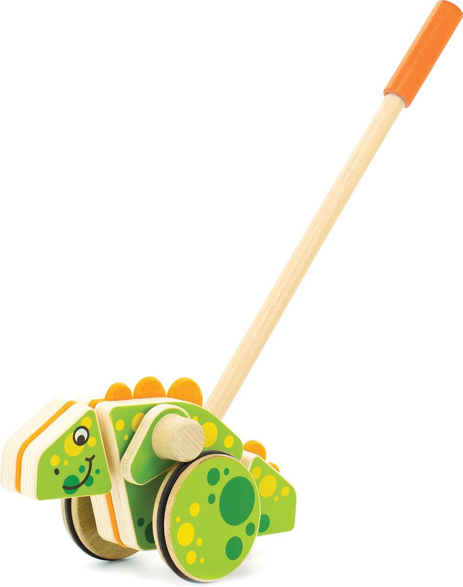 Мир деревянных игрушек Игрушка-каталка Динозавр мир деревянных игрушек конструктор каталка полиция
