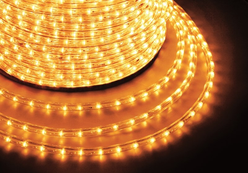 Дюралайт светодиодный  Neon-Night , постоянное свечение, 2W, цвет: желтый, бухта 100 м - Гирлянды и светильники