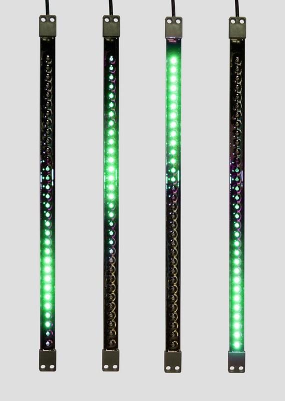 Гирлянда Neon-Night Сосулька, светодиодная, двухсторонняя, 32х2 LED, цвет: черный, зеленый, 50 см256-121«Светодиодная сосулька» - это оригинальное, красивое и современное средство оформления фасадов и интерьеров зданий, деревьев, витрин и т.д. Она представляет собой прямоугольную трубку длиной 50 см в пластиковом корпусе чёрного цвета. Внутри надежно закреплена двусторонняя тонкая плата со светодиодами и микрочипом, обеспечивающим динамику с эффектом стекающей капли. Гирлянда работает от напряжения 9,5 V и имеет влагозащищённое исполнение, что позволяет безопасно использовать её как в помещении, так и на улице. «Светодиодные сосульки» соединяются в единую цепь с помощью комплектов для подключения - арт. 256-152 (4 шт.) или 256-153 (5 шт) и затем подключаются к бытовой сети через понижающий трансформатор - арт. 256-154. Вы самостоятельно сможете создать красивую световую композицию, соединив между собой несколько таких комплектов. Как и другие светодиодные изделия, «Тающие сосульки» отличаются большим сроком службы (не менее 50000 часов при правильной эксплуатации) и очень низким энергопотреблением. Дополнительным преимуществом наших «Светодиодных сосулек» является то, что при их изготовлении испрользуются японские светодиоды Nichia. Цвет светодиодов - зелёный. Гирлянда представлена в нескольких цветах.