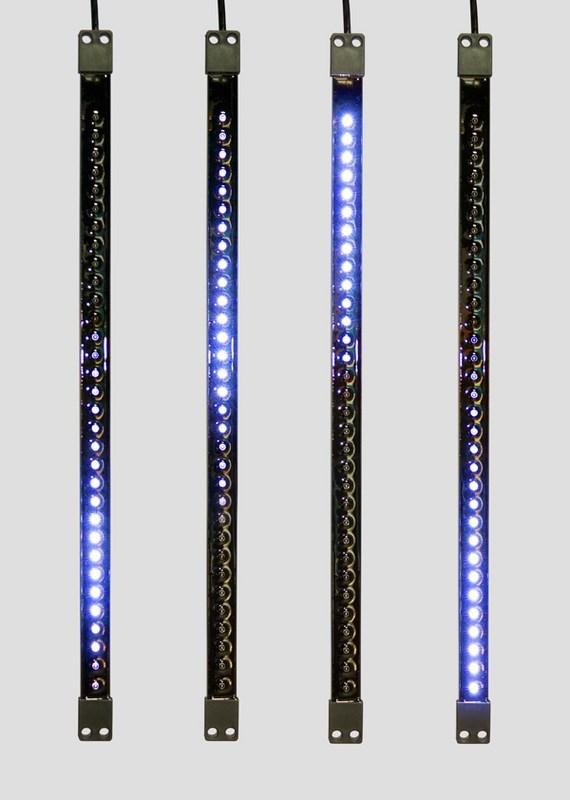 Гирлянда Neon-Night Сосулька, светодиодная, двухсторонняя, 32х2 LED, цвет: черный, синий, 50 см256-124«Светодиодная сосулька» - это оригинальное, красивое и современное средство оформления фасадов и интерьеров зданий, деревьев, витрин и т.д. Она представляет собой прямоугольную трубку длиной 50 см в пластиковом корпусе чёрного цвета. Внутри надежно закреплена двусторонняя тонкая плата со светодиодами и микрочипом, обеспечивающим динамику с эффектом стекающей капли. Гирлянда работает от напряжения 9,5 V и имеет влагозащищённое исполнение, что позволяет безопасно использовать её как в помещении, так и на улице. «Светодиодные сосульки» соединяются в единую цепь с помощью комплектов для подключения - арт. 256-152 (4 шт.) или 256-153 (5 шт) и затем подключаются к бытовой сети через понижающий трансформатор - арт. 256-154. Вы самостоятельно сможете создать красивую световую композицию, соединив между собой несколько таких комплектов. Как и другие светодиодные изделия, «Тающие сосульки» отличаются большим сроком службы (не менее 50000 часов при правильной эксплуатации) и очень низким энергопотреблением. Дополнительным преимуществом наших «Светодиодных сосулек» является то, что при их изготовлении испрользуются японские светодиоды Nichia. Цвет светодиодов - синий. Гирлянда представлена в нескольких цветах.