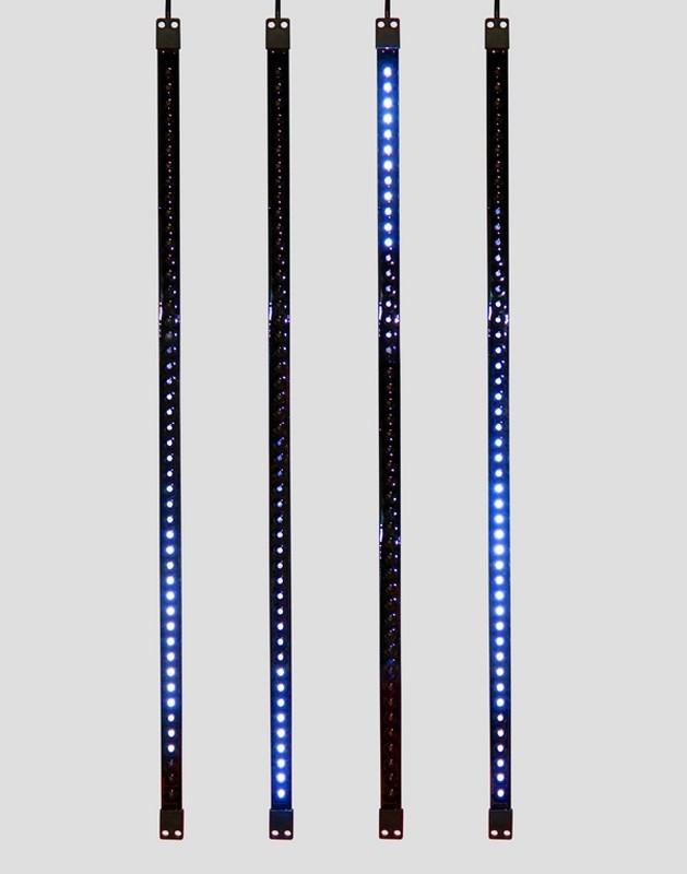 Гирлянда Neon-Night Сосулька, светодиодная, двухсторонняя, 48х2 LED, цвет: черный, синий, 80 см256-126«Светодиодная сосулька» - это оригинальное, красивое и современное средство оформления фасадов и интерьеров зданий, деревьев, витрин и т.д. Она представляет собой прямоугольную трубку длиной 80 см в пластиковом корпусе чёрного цвета. Внутри надежно закреплена двусторонняя тонкая плата со светодиодами и микрочипом, обеспечивающим динамику с эффектом стекающей капли. Гирлянда работает от напряжения 9,5 V и имеет влагозащищённое исполнение, что позволяет безопасно использовать её как в помещении, так и на улице. «Светодиодные сосульки» соединяются в единую цепь с помощью комплектов для подключения - арт. 256-152 (4 шт.) или 256-153 (5 шт) и затем подключаются к бытовой сети через понижающий трансформатор - арт. 256-154. Вы самостоятельно сможете создать красивую световую композицию, соединив между собой несколько таких комплектов. Как и другие светодиодные изделия, «Тающие сосульки» отличаются большим сроком службы (не менее 50000 часов при правильной эксплуатации) и очень низким энергопотреблением. Дополнительным преимуществом наших «Светодиодных сосулек» является то, что при их изготовлении испрользуются японские светодиоды Nichia. Цвет светодиодов - синий. Гирлянда представлена в нескольких цветах.