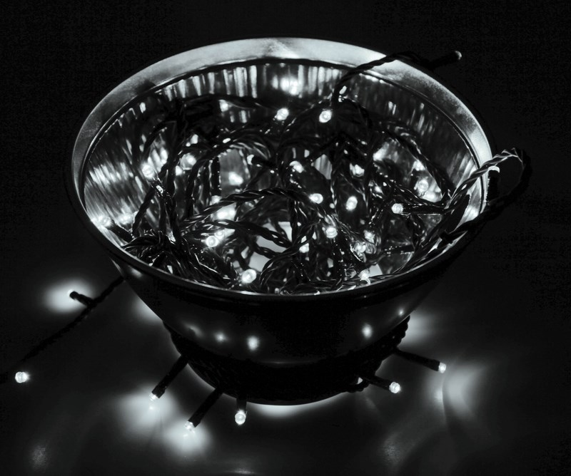 Гирлянда Neon-Night Твинкл Лайт, светодиодная, 200 LED, цвет: черный, белый, 20 м