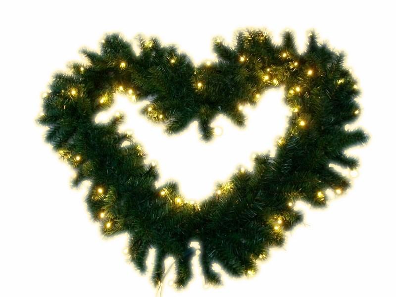 Украшение декоративное Neon-Night Еловый шлейф, светодиодное, цвет: теплый белый, 2,7 м светодиодное дерево neon night яблоня цвет красный теплый белый 150 см