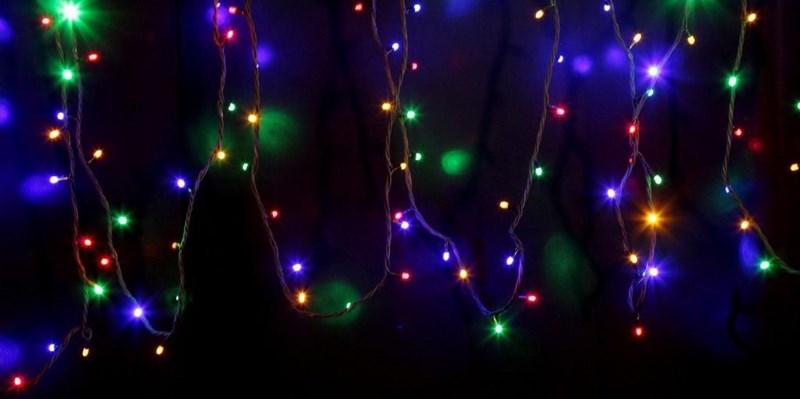 """Гирлянда модульная Neon-Night """"Дюраплей"""", светодиодная, 120 LED, каучуковый провод, цвет: черный, мультиколор, 12 м"""