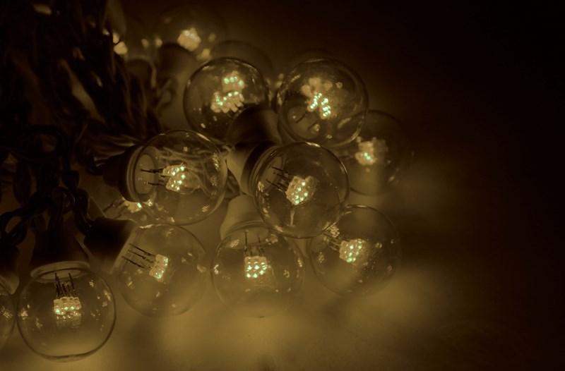 Гирлянда Neon-Night Galaxy Bulb String, светодиодная, влагостойкая, 30 ламп х 6 LED, каучуковый провод, цвет: белый, теплый белый, 10 м 20pcs bulb string light