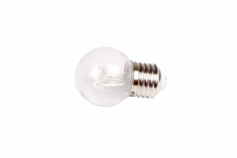 Лампа шар Neon-Night, светодиодная, 6 LED, эффект лампы накаливания, цоколь Е27, цвет: розовый405-127Декоративные светодиодные лампы используются с гирляндой Belt Light и служат для украшения улиц, фасадов зданий и интерьеров. Колба лампы имеет форму шара диаметром 45мм, что позволяет увеличить площадь свечения и насыщенность светом окружающего пространства. Она выполнена из ударопрочного прозрачного поликарбоната. 6 светодиодов расположены внутри таким образом, что создается впечатление что перед вами лампа накаливания уникального цвета. Декоративная лампа имеет стандартный цоколь Е27, при помощи которого установка является весьма простой процедурой не занимающей много времени. Суммарная мощность светодиодов составляет всего 1Вт, что позволяет снизить затраты на электроэнергию и подключить гирлянду большей длины. Светодиодные лампы используются с гирляндами Belt Light двух или пятижильными, а при ипользовании специального контроллера можно создать различные динамические световые эффекты.