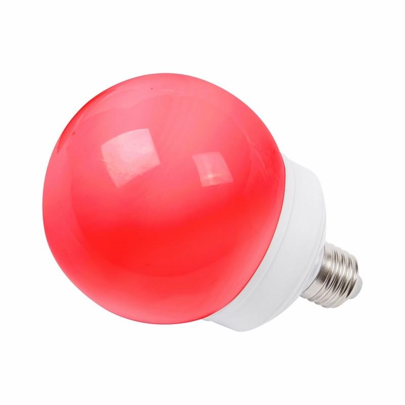 Лампа шар Neon-Night, светодиодная, 12 LED, цоколь Е27, цвет: красный, диаметр 100 мм405-132Декоративные светодиодные лампы используются с гирляндой Belt Light и служат для украшения улиц, фасадов зданий и интерьеров. Колба лампы имеет форму шара диаметром 100 мм, что позволяет увеличить площадь свечения и насыщенность светом окружающего пространства. Она выполнена из ударопрочного поликарбоната, окрашенного в цвет свечения лампы. Декоративная лампа имеет стандартный цоколь Е27, при помощи которого установка является весьма простой процедурой не занимающей много времени. Суммарная мощность светодиодов составляет всего 2Вт, что позволяет снизить затраты на электроэнергию и подключить гирлянду большей длины. Данная лампа представлена в красном цвете свечения.