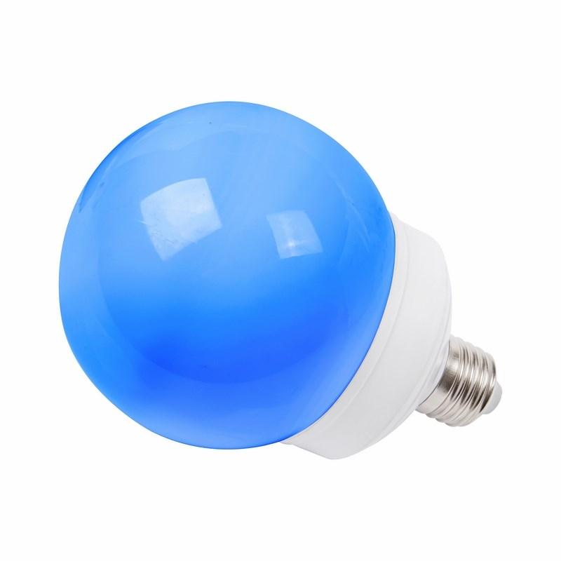 Лампа шар Neon-Night, светодиодная, 12 LED, цоколь Е27, цвет: синий, диаметр 100 мм405-133Декоративные светодиодные лампы используются с гирляндой Belt Light и служат для украшения улиц, фасадов зданий и интерьеров. Колба лампы имеет форму шара диаметром 100 мм, что позволяет увеличить площадь свечения и насыщенность светом окружающего пространства. Она выполнена из ударопрочного поликарбоната, окрашенного в цвет свечения лампы. Декоративная лампа имеет стандартный цоколь Е27, при помощи которого установка является весьма простой процедурой не занимающей много времени. Суммарная мощность светодиодов составляет всего 2Вт, что позволяет снизить затраты на электроэнергию и подключить гирлянду большей длины. Данная лампа представлена в синем цвете свечения.
