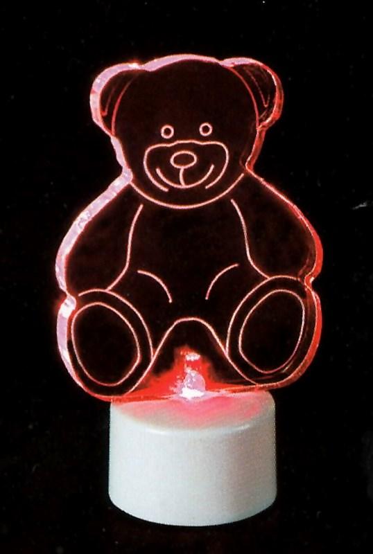 Фигура светодиодная на подставке Мишка 2D, RGB501-047Светодиодная фигура на подставке Мишка 2D станет прекрасным украшением домашнего интерьера, рабочего стола или послужит просто символичным новогодним комплиментом. Фигура работает от батареек LR44 (в комплекте), плавная смена цвета (RGB) создаст приятное праздничное настроение.