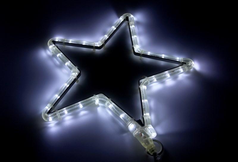 Фигура световая Звездочка LED цвет белый, размер 30*28 см501-211-1ФигураЗвездочка LED БЕЛЫЙ, 30В*28Ш см, IP44, 220В