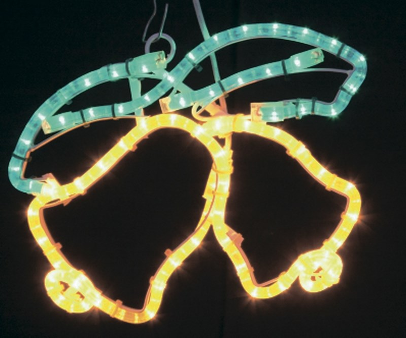 Фигура Neon-Night Два колокольчика, цвет: желтый, зеленый, 35 х 28 см501-215Эти изделия не потребуют дополнительных затрат для монтажа. Световые фигуры с дюралайтом нужно просто установить в желаемом месте и подвести питание 220 В.