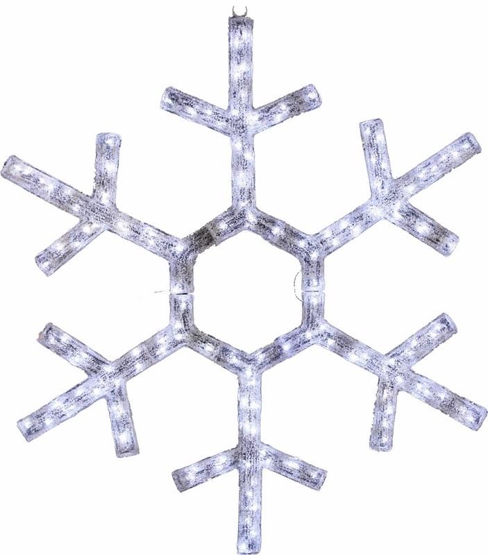 Фигура Neon-Night Снежинка, светодиодная, 138 LED, диаметр 91 см501-331Фигура Снежинка имеет прочный пластиковый корпус, благодаря этому светодиоды сильнее защищены от механических повреждений в сравнении с изделием из дюралайта. Так же пластиковый корпус имеет рельефную поверхность, что позволяет преломлять свет от диодов и добавляет красоты изделию в целом. Данную фигуру можно использовать не только на стенах и окнах, но и на деревьях, новогодних елках.
