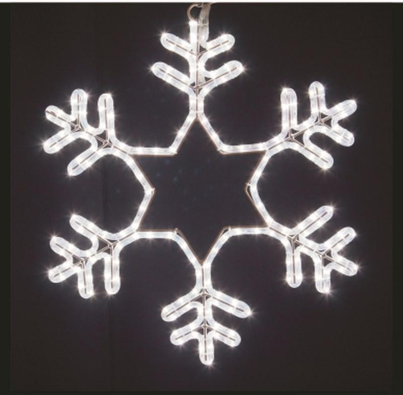 Фигура световая Снежинка цвет белый, размер 55*55 см, мерцающая501-337Эти изделия не потребуют дополнительных затрат для монтажа. Световые фигуры с дюралайтом нужно просто установить в желаемом месте и подвести питание 220 В.