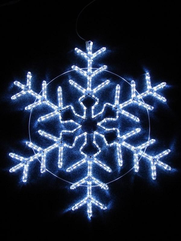 Фигура световая Снежинка цвет белый, размер 95*95 см, мерцающая501-338Эти изделия не потребуют дополнительных затрат для монтажа. Световые фигуры с дюралайтом нужно просто установить в желаемом месте и подвести питание 220 В.