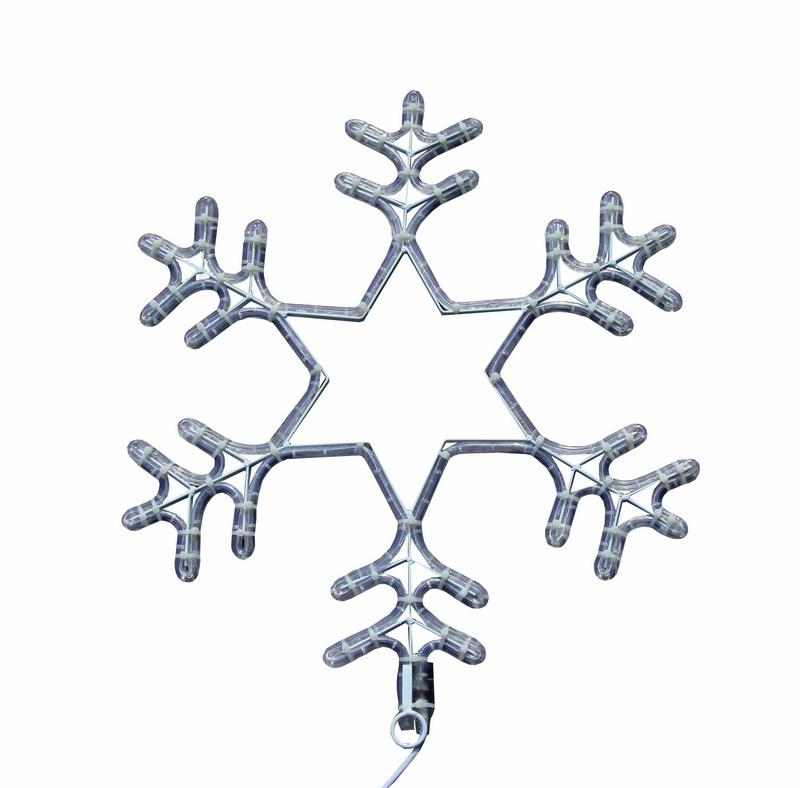 Фигура световая Снежинка цвет белый, размер 55 см, мигающая (2В с контроллером)501-347Cветовая фигура СНЕЖИНКА мигающая LED 55 см(2W с контроллером), цвет светодиодов БЕЛЫЙ
