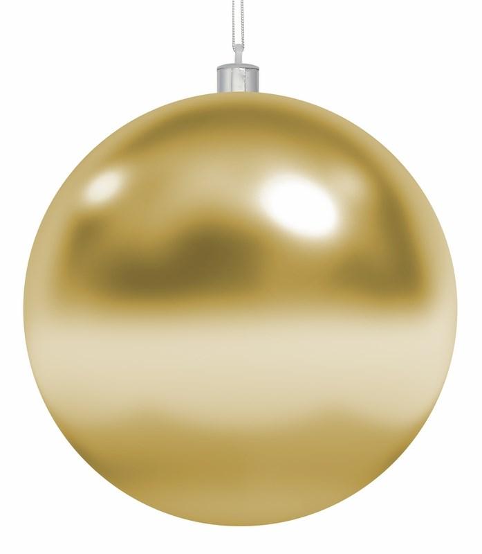 Украшение новогоднее подвесное Neon-Night Шар, цвет: золотой, 25 см502-011Елочная фигура Шар, 25 см, цвет золотой глянцевый, из пластика